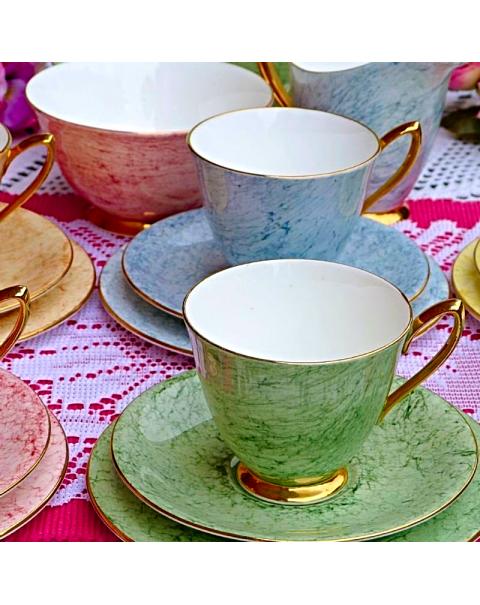 ROYAL ALBERT GOSSAMER HARLEQUIN TEA SET